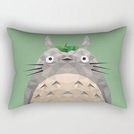 Low Poly Forest Spirit Rectangular Pillow