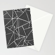 Ab Lines Black on White Stationery Cards