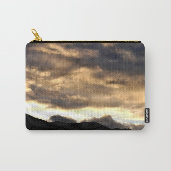 SUNSET THRU THE HEAVY RAIN CLOUDS Carry-All Pouch