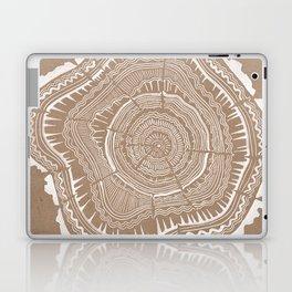 Tree Rings – White Ink on Kraft Laptop & iPad Skin