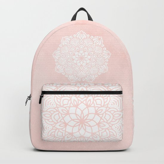 Mandala Mermaid Sea Pink by Nature Magick Backpack