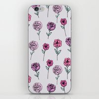 peonies iPhone & iPod Skins featuring Peonies by Abby Galloway