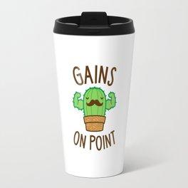 Gains On Point (Cactus Pun) Travel Mug