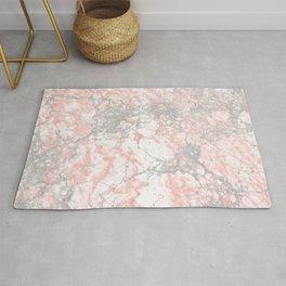 Modern blush pink gray stylish marble Rug