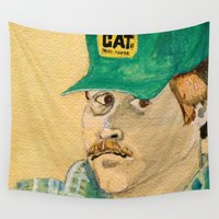 swanson Wall Tapestries featuring Dennis Swanson watercolor™ by Space/Vampire