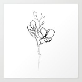 Magnolia flower art prints society6 botanical collection magnolia flower print art print mightylinksfo Image collections