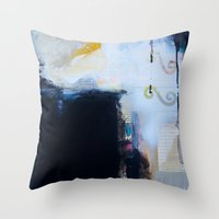 brand new Throw Pillows featuring Brand New Day by Natalie Baca