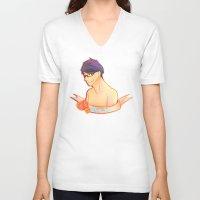 iwatobi V-neck T-shirts featuring Rei Ryugazaki by Miyo Bell
