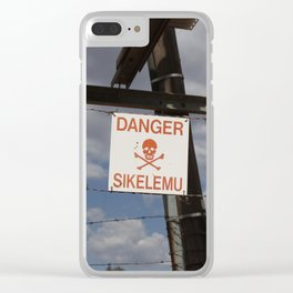 Danger Clear iPhone Case