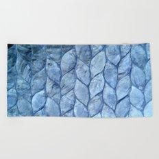 Ocean Blue Shell Beach Towel