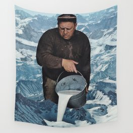 Milky Mountain Wall Tapestry