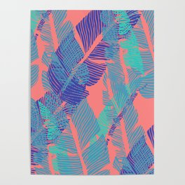 Carved Fluo Jungle #society6 #decor #buyart Poster