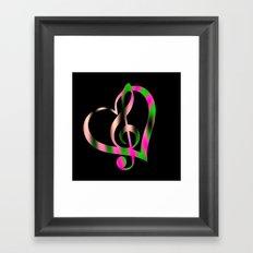 G Clef in Heart  Framed Art Print