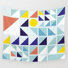 Sunny Geometric Regatta #pattern Wall Tapestry