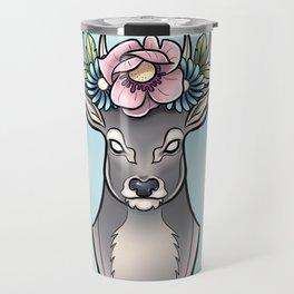 Floral Stag Travel Mug