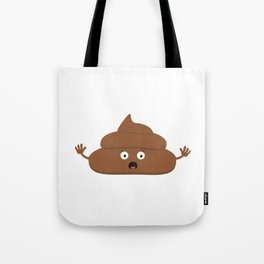 Frightened poo Tote Bag