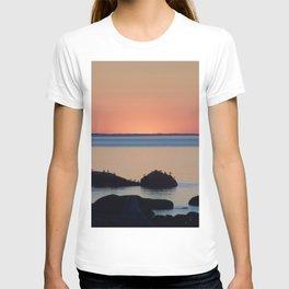 Peaceful Sunset Ship and Sea T-shirt