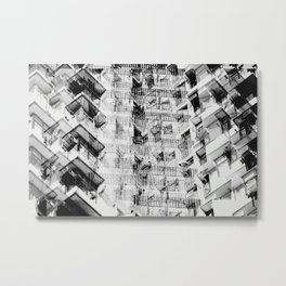Hong Kong Apartments Metal Print