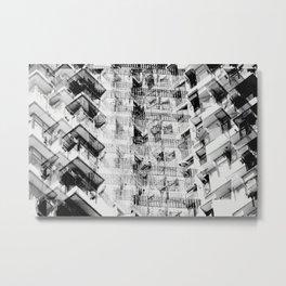 Hong Kong Apartments Metal Print