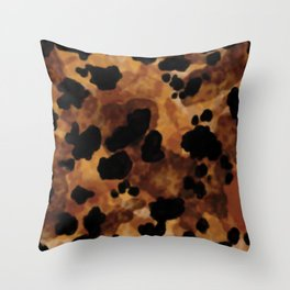 Tortoiseshell Watercolor Throw Pillow