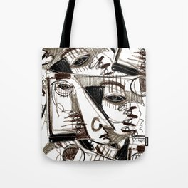 Silver Look Tote Bag