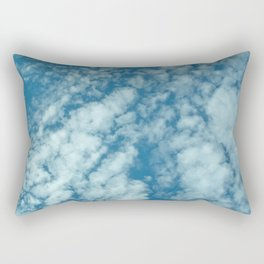 Fluffy clouds in a blue sky Rectangular Pillow