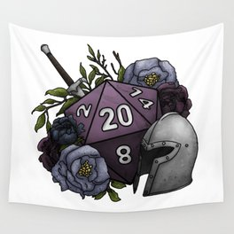 Fighter Class D20 - Tabletop Gaming Dice Wall Tapestry