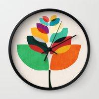 lotus Wall Clocks featuring Lotus flower by Picomodi