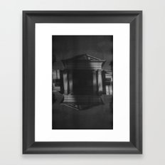 Mansions (35mm Double Exposure) Framed Art Print