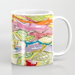 Female Nudes With Leaves Coffee Mug