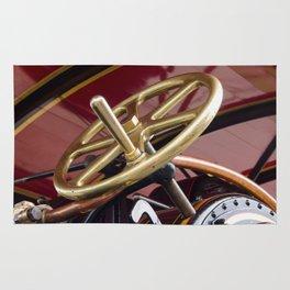 Brass steering wheel Rug