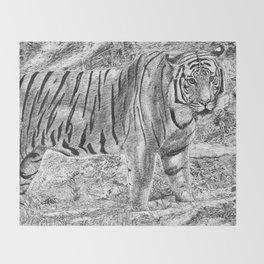 Malayan Tiger (Harimau) Throw Blanket