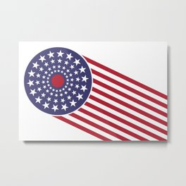 America, the shooting star. Metal Print