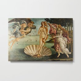 The Birth of Venus - Nascita di Venere by Sandro Botticelli Metal Print