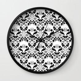 Abstract seamless black and grey ornament Wall Clock