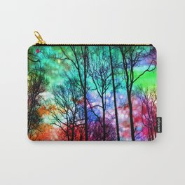colorful abstract forest Carry-All Pouch