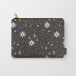 Holiday White star pattern Carry-All Pouch
