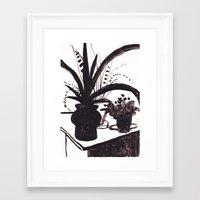 plants Framed Art Prints featuring Plants by Olga Rezontova