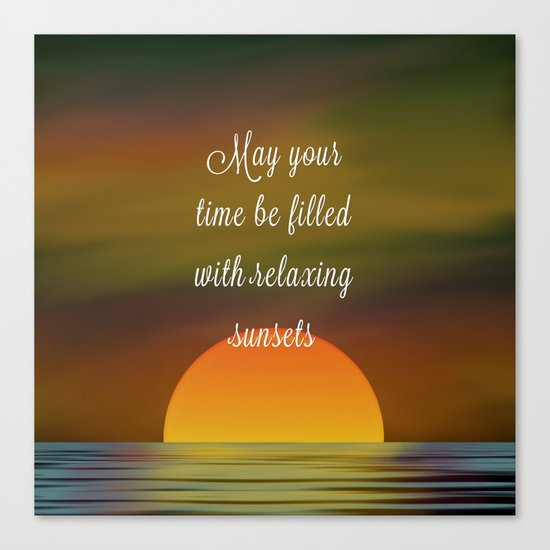 Relaxing Sunsets Canvas Print