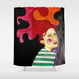 JigSaw Hair, Stripey Shirt Shower Curtain