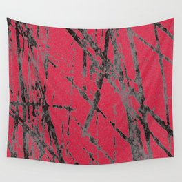 red black scratchy grunge Wall Tapestry