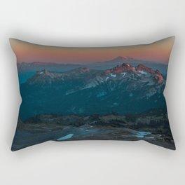 Mount Hood sunset from Mount Rainier Rectangular Pillow