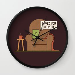 Saved You a Spot Wall Clock