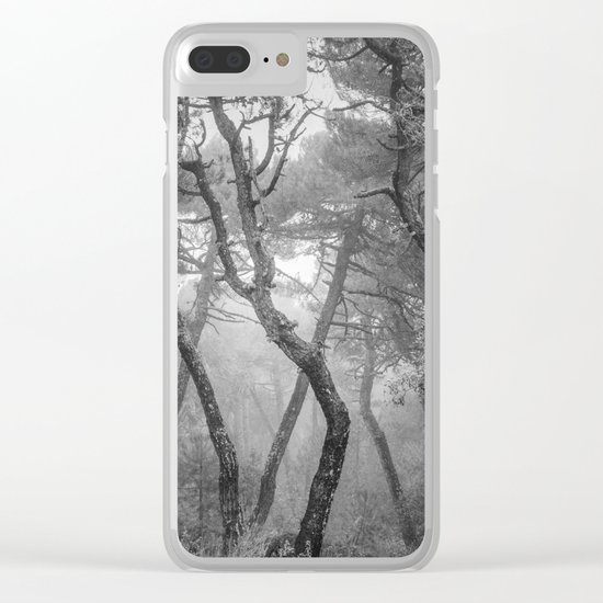"""""""Forest dance"""" BW Clear iPhone Case"""