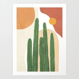 Abstract Cactus I Art Print