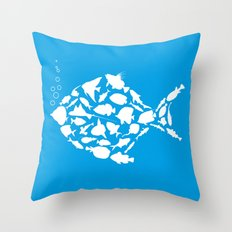 Fish are friends..... Throw Pillow