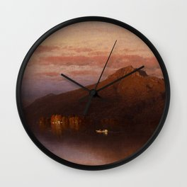 Sanford Robinson Gifford - Whiteface Mountain from Lake Placid Wall Clock