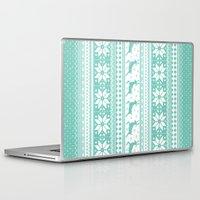 sweater Laptop & iPad Skins featuring Reindeer Sweater by Kelsey Bruxvoort