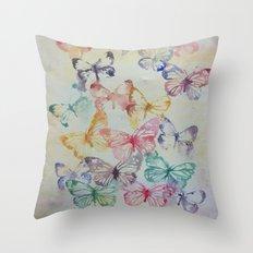 Butterflies II Throw Pillow