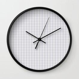 Mini Grey Harbour Mist Gingham Tartan 2018 London Fashion Color Wall Clock